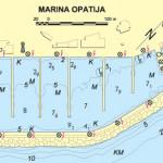aci marina opatija nautical map