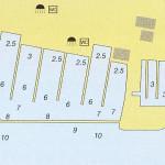 marina kastela nautical map