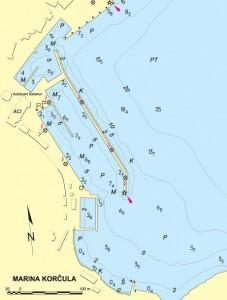aci marina korcula nautical map