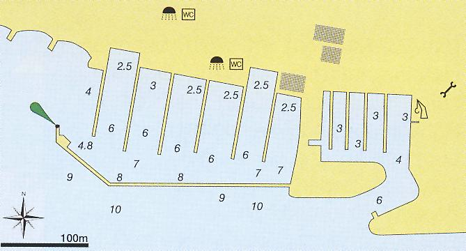 marina kastela nautical map