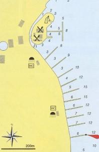 marina frapa nautical map rogoznica