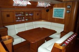 croatia charter boat saloon