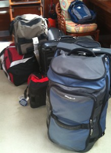 planning luggage for sailing